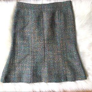 Marc Jacobs Tweed Rainbow Wool Fluted Skirt 4